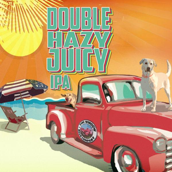 FWBC Double Hazy Juicy IPA Label